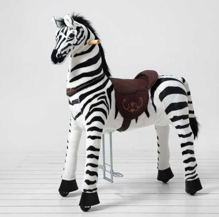 Ponnie Jezdící zebra extra velká