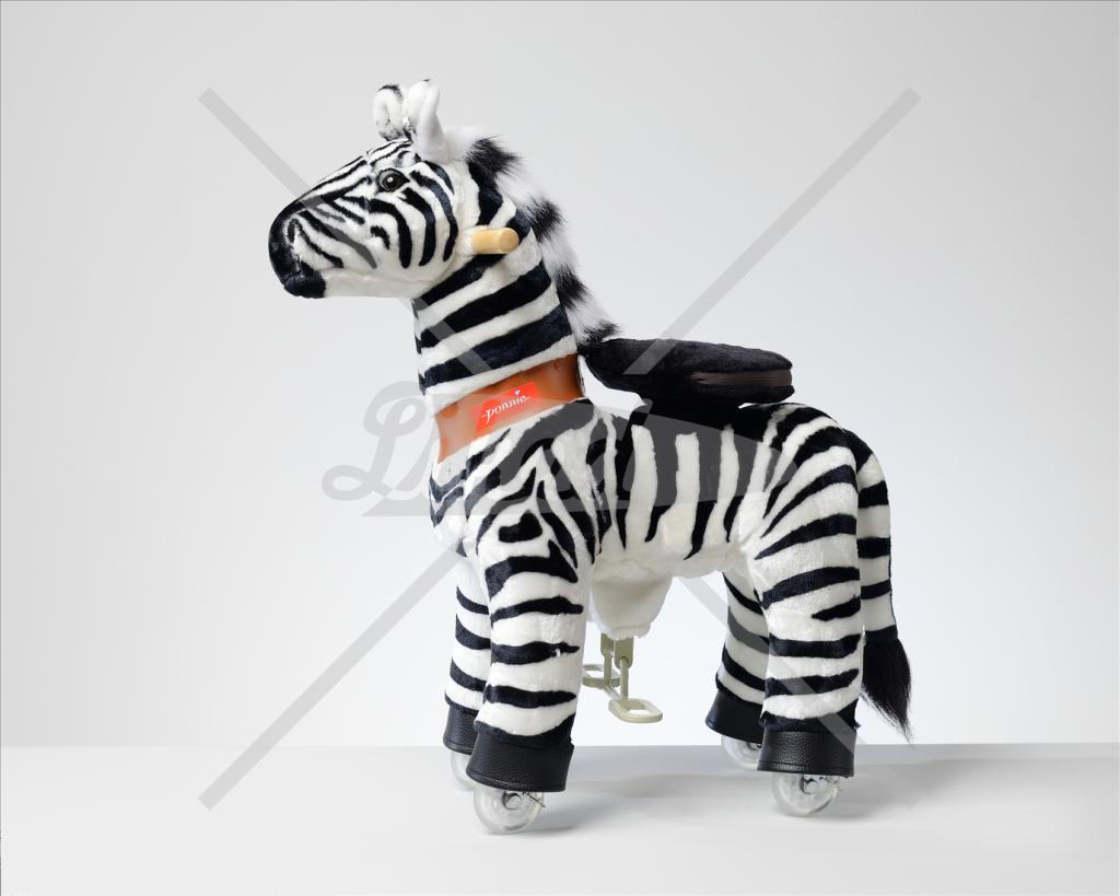 PONNIE Jezdící Zebra malá