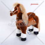 N3151 brown with white hoof horse small