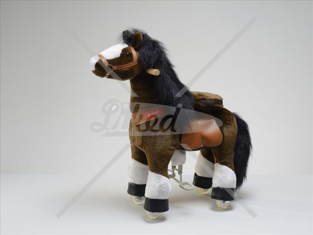 PONNIE jezdící kůň čokoládový hnědý malý