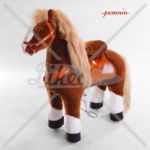 N4151 brown with white hoof horse medium