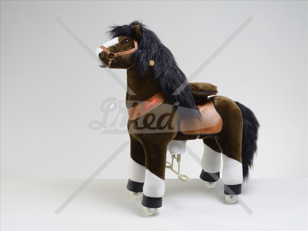 PONNIE jezdící kůň čokoládový hnědý střední