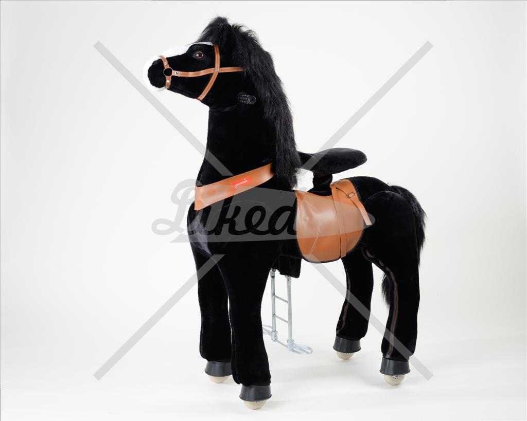 Ponnie jezdící černý mustang – velký