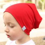 Dětská tepláková čepice v různých barvách