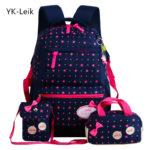 Dívčí stylový školní batoh s ortopedickou zadní částí