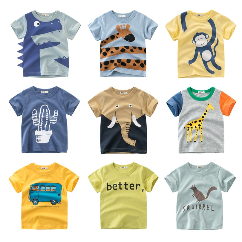 Chlapecké tričko s motivy zvířat