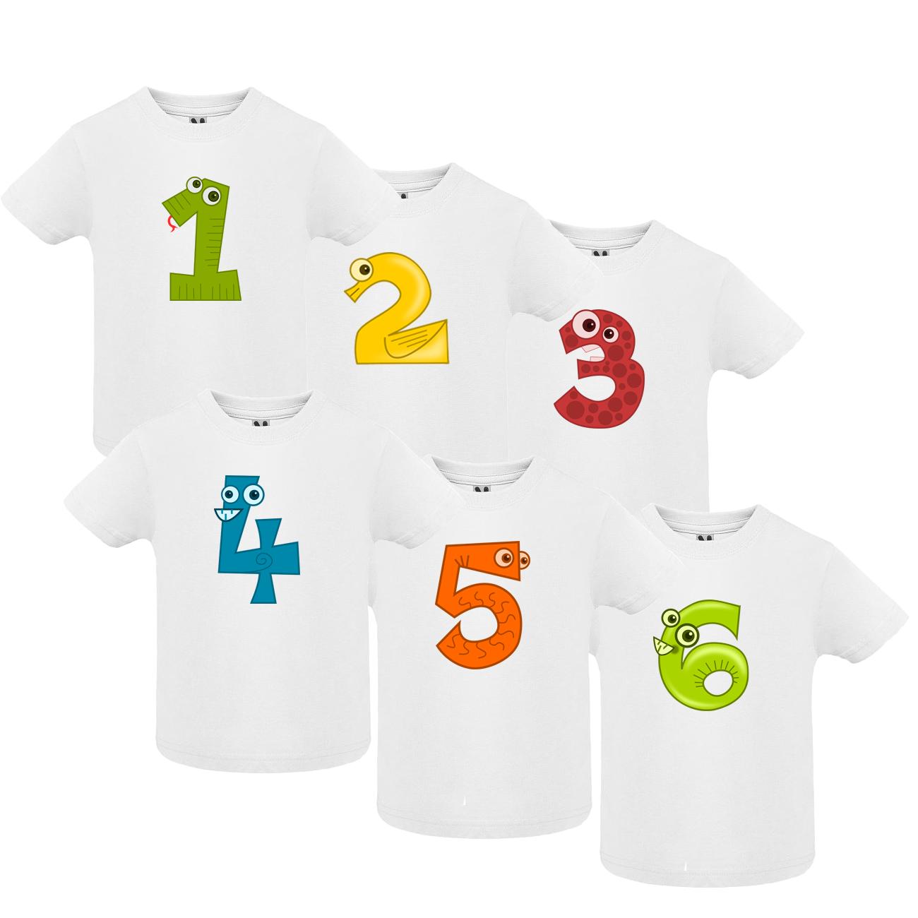 Narozeninové tričko s číslem
