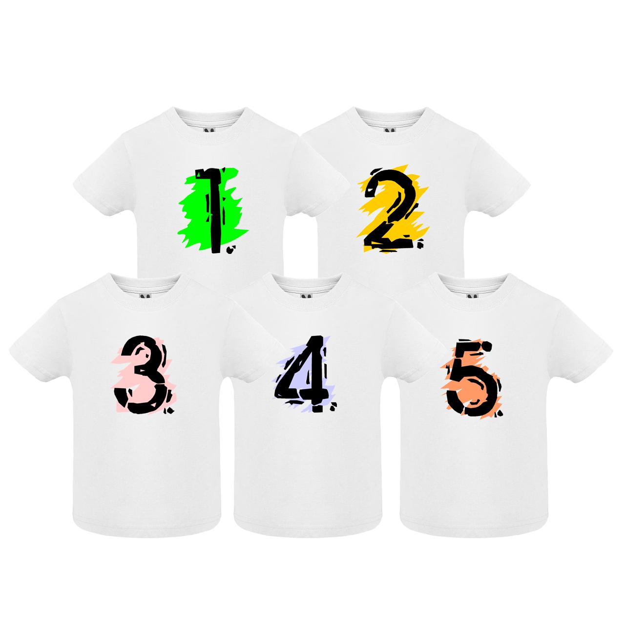 Narozeninové tričko se šmouhou a číslem