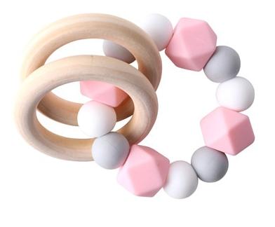 Náramkové dětské kousátko – růžové