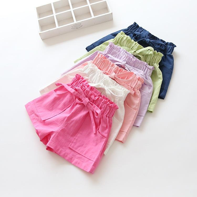 Dívčí šortky s mašlí