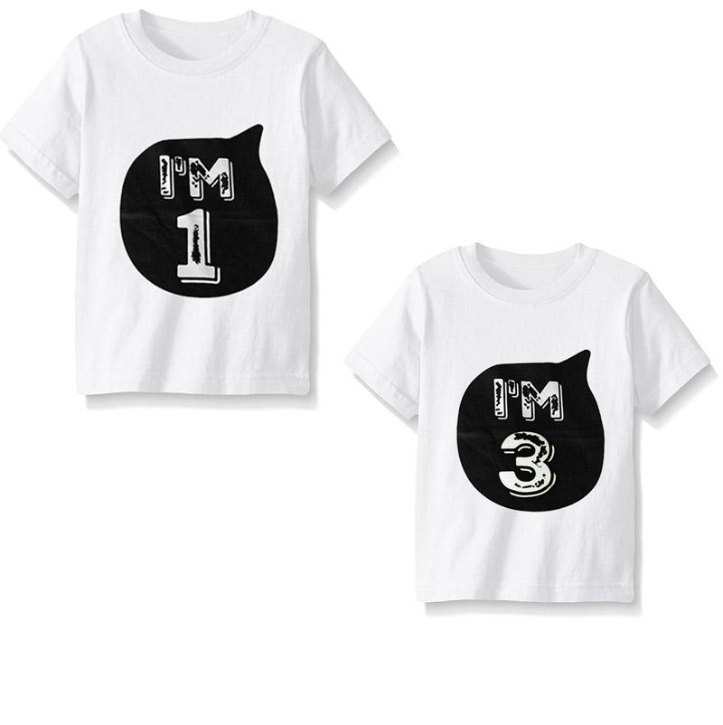 Dětské narozeninové tričko bílé