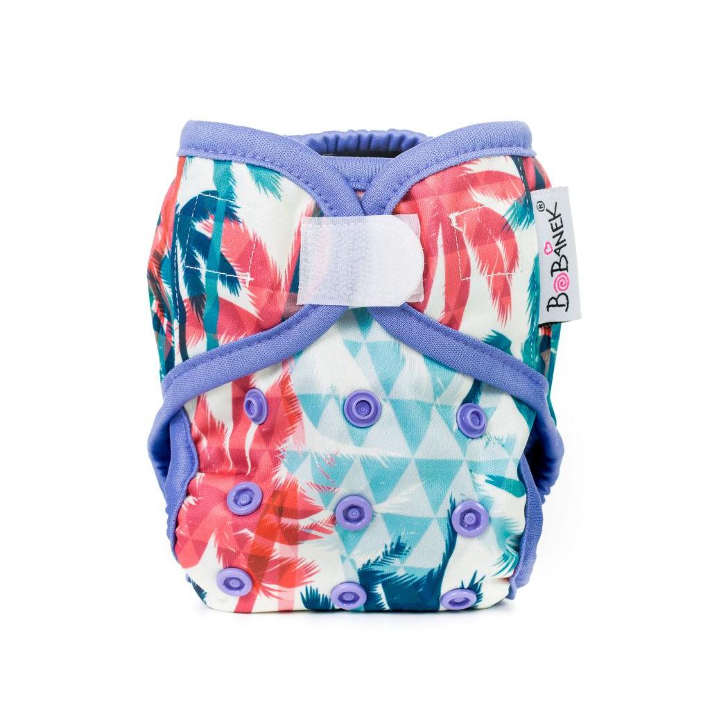 Novorozenecké svrchní kalhotky suchý zip – Palmy