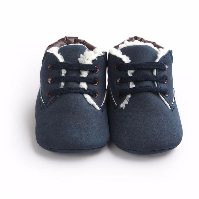 Teplé kojenecké botičky – Modré