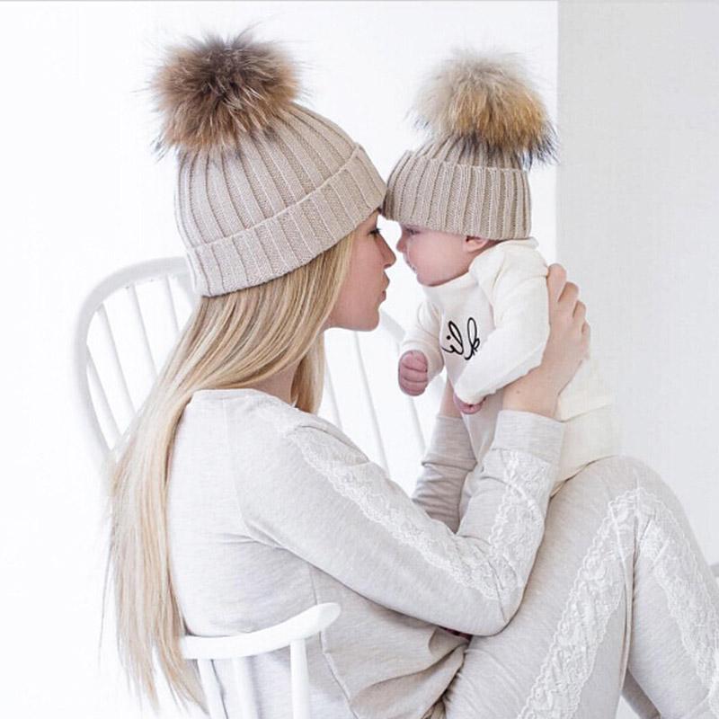 Čepice pro maminku a dítě