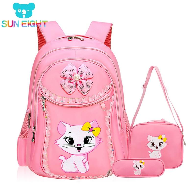 Dívčí batůžek s kočičkou
