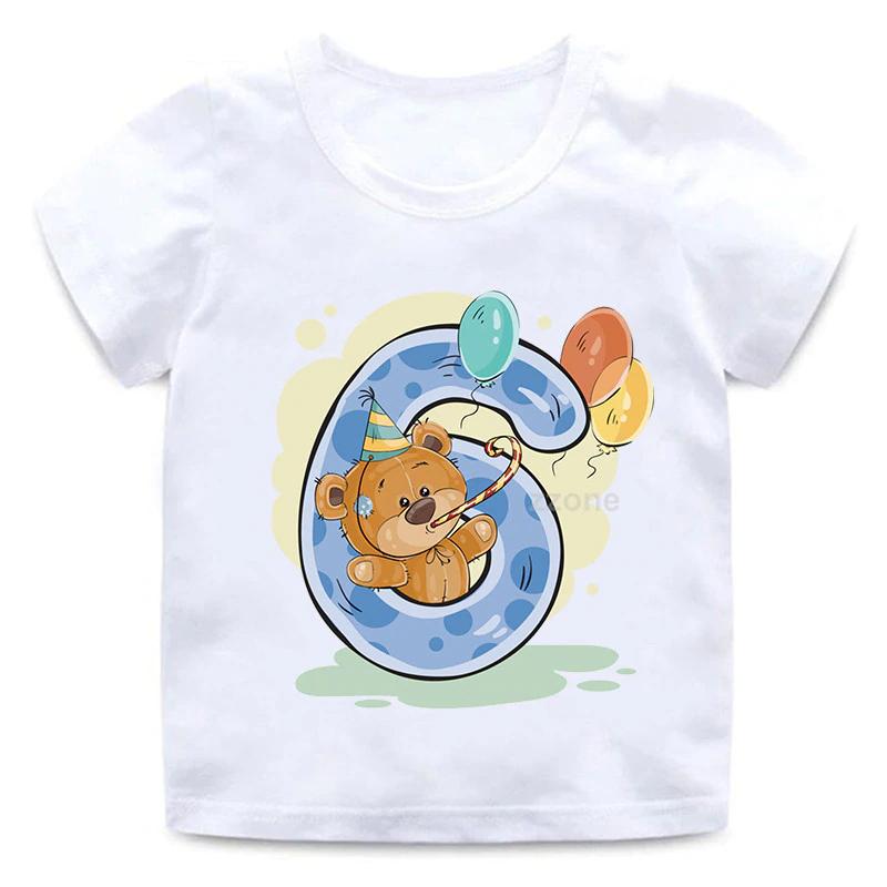 Narozeninové tričko s veselým medvědem