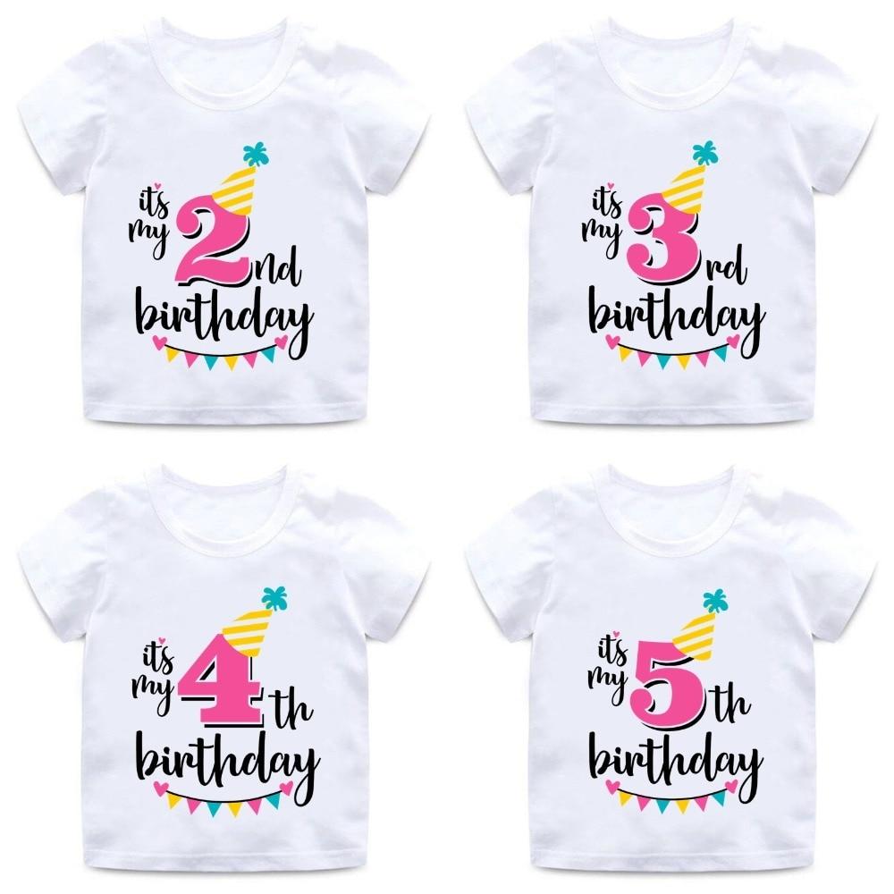 Veselé narozeninové triko s číslem