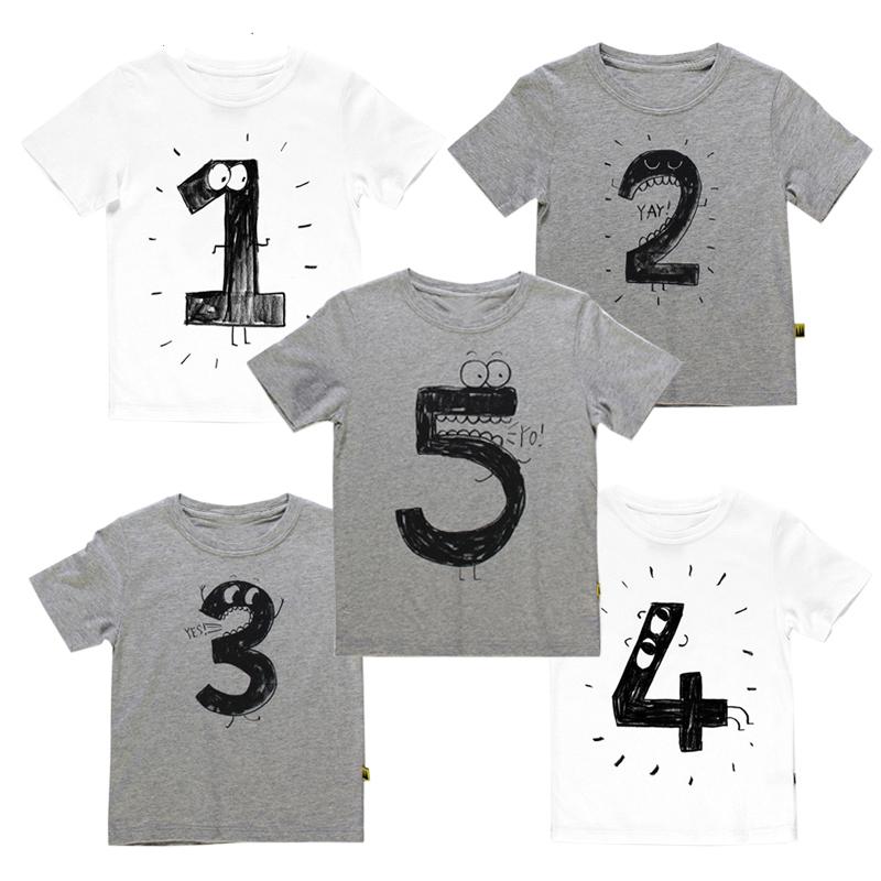 Narozeninové tričko s veselými čísly