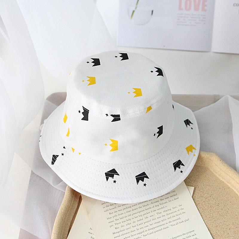 Letní plátěný klobouk,  bílý se vzory