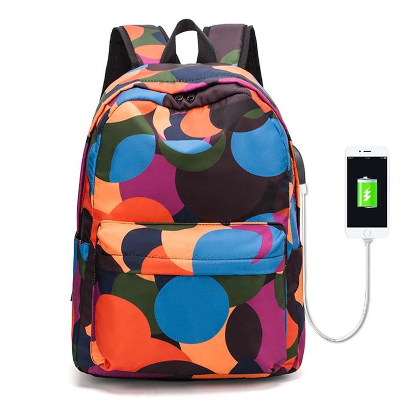 Studentský batoh Atinfor s nabíjecím portem USB