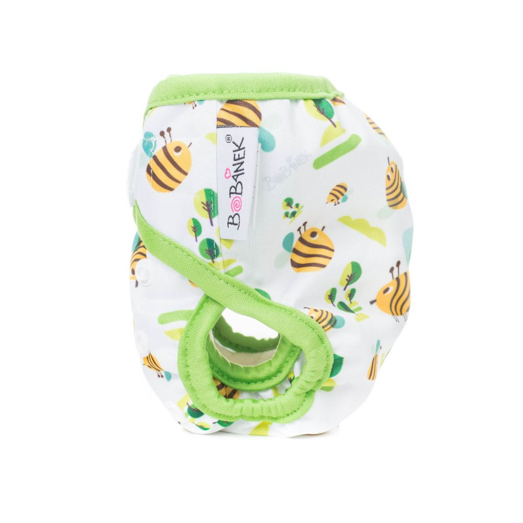 Novorozenecké svrchní kalhotky suchý zip – Včelka