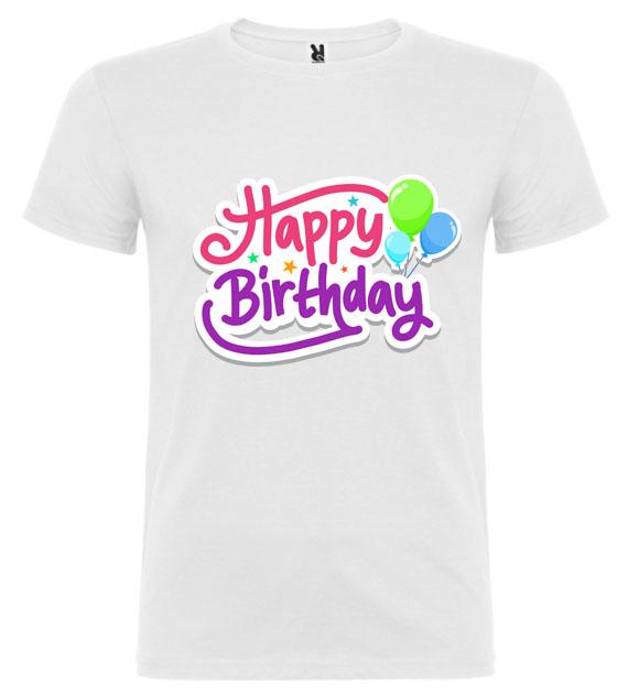 Narozeninové tričko – Happy Birthday
