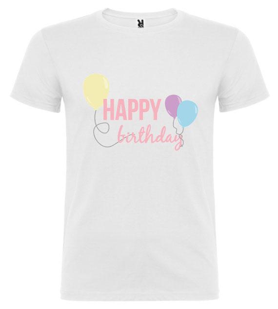 Narozeninové tričko – Happy Birthday s balónky
