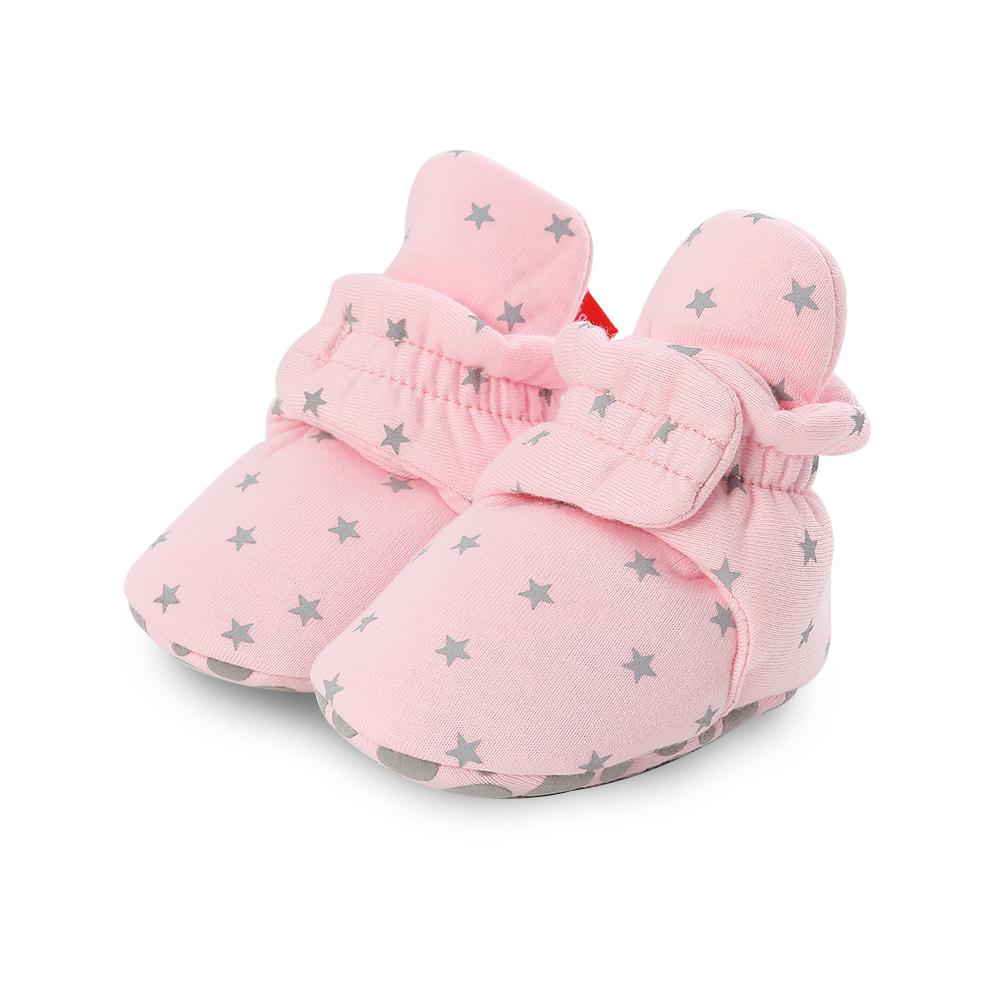 Capáčky pro miminko – Růžové s hvězdičkami