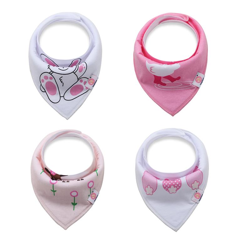 Kojenecké šátky růžovo-bílé