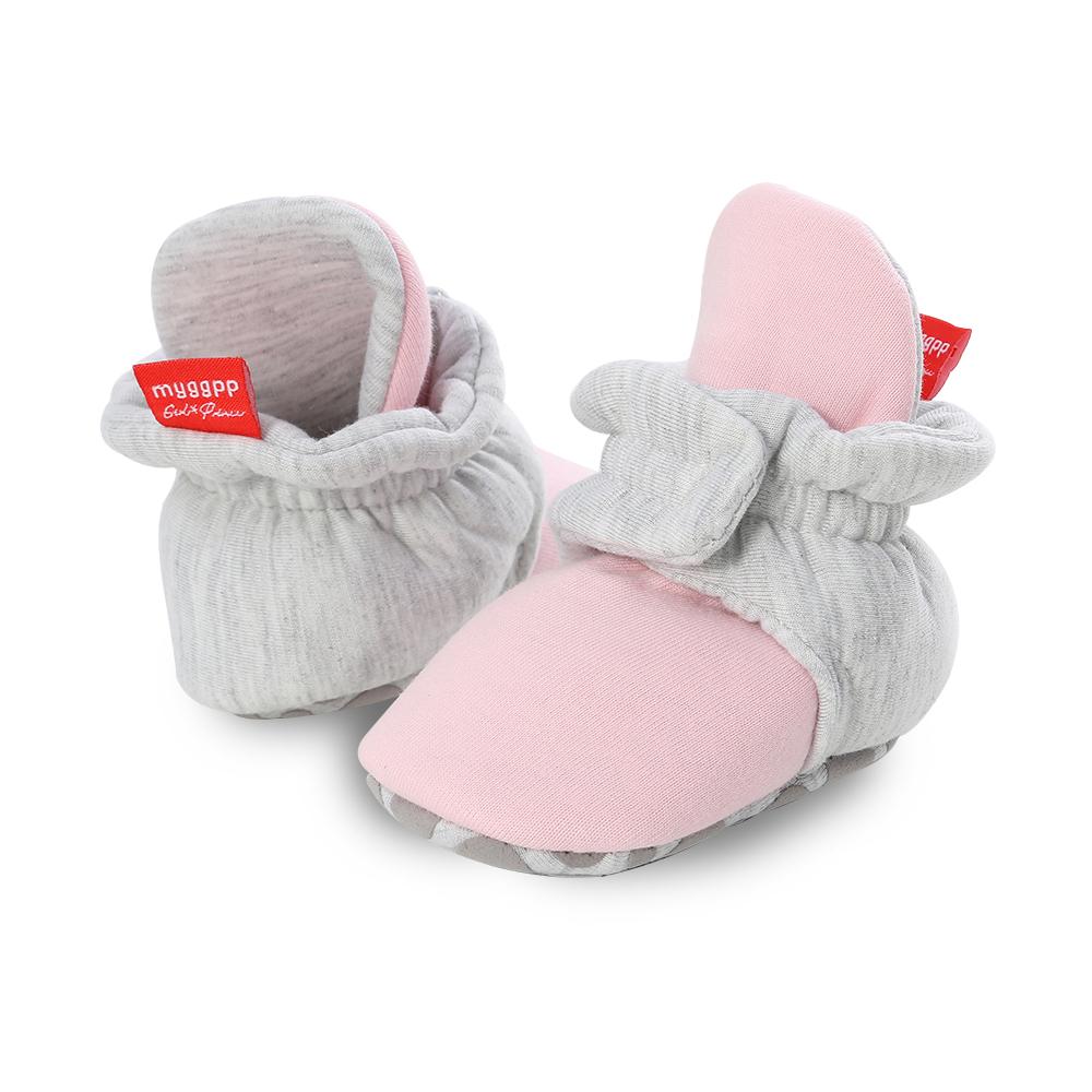 Capáčky pro miminko – Růžovo-šedé