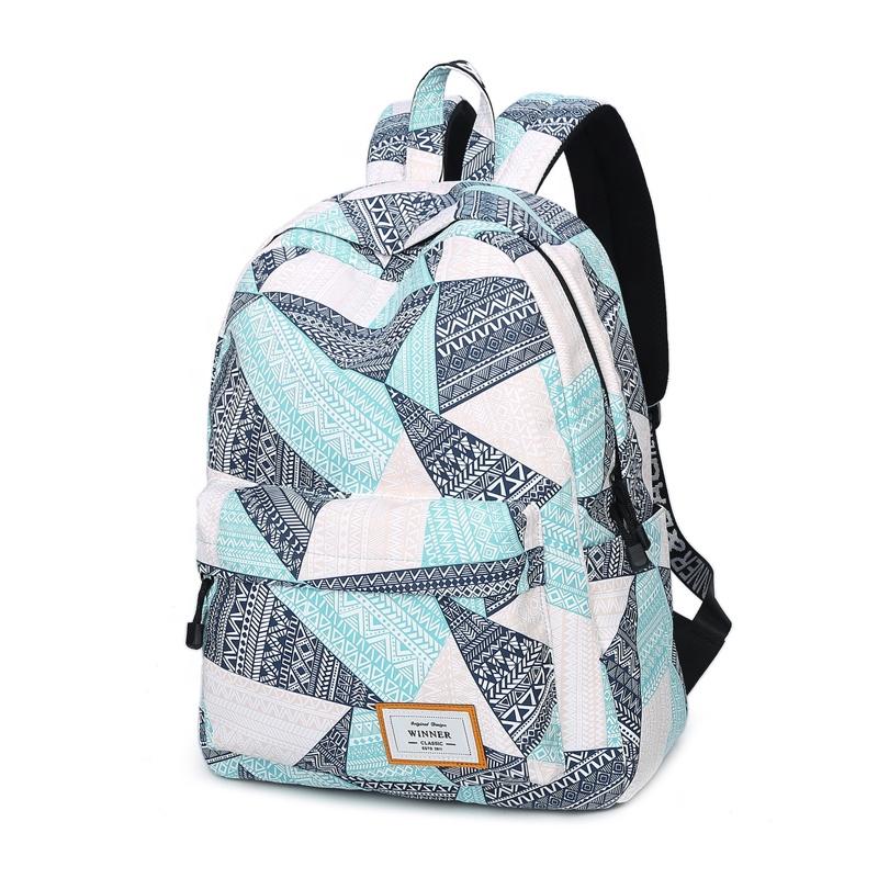 WINNER plátěný batoh – Světle modrý